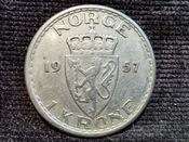 Norway, Haakon VII, One Krone 1957, VF, WE6342